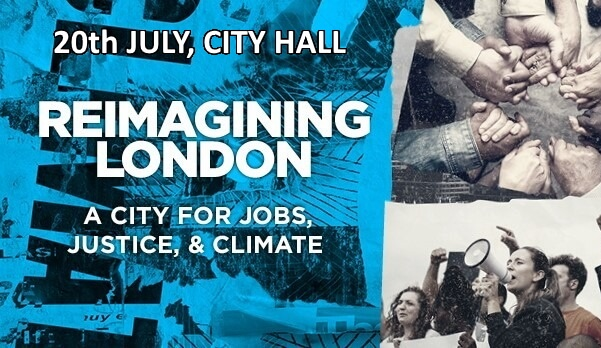 poster or flyer advertising event Reimagining London