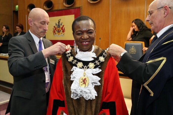 kate anolue inauguration as mayor of enfield May 2019