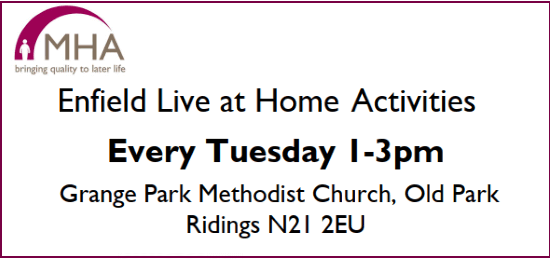 enfield live at home weekly activities
