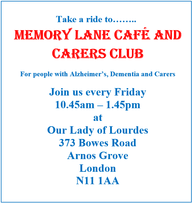 memory lane cafe and carers club