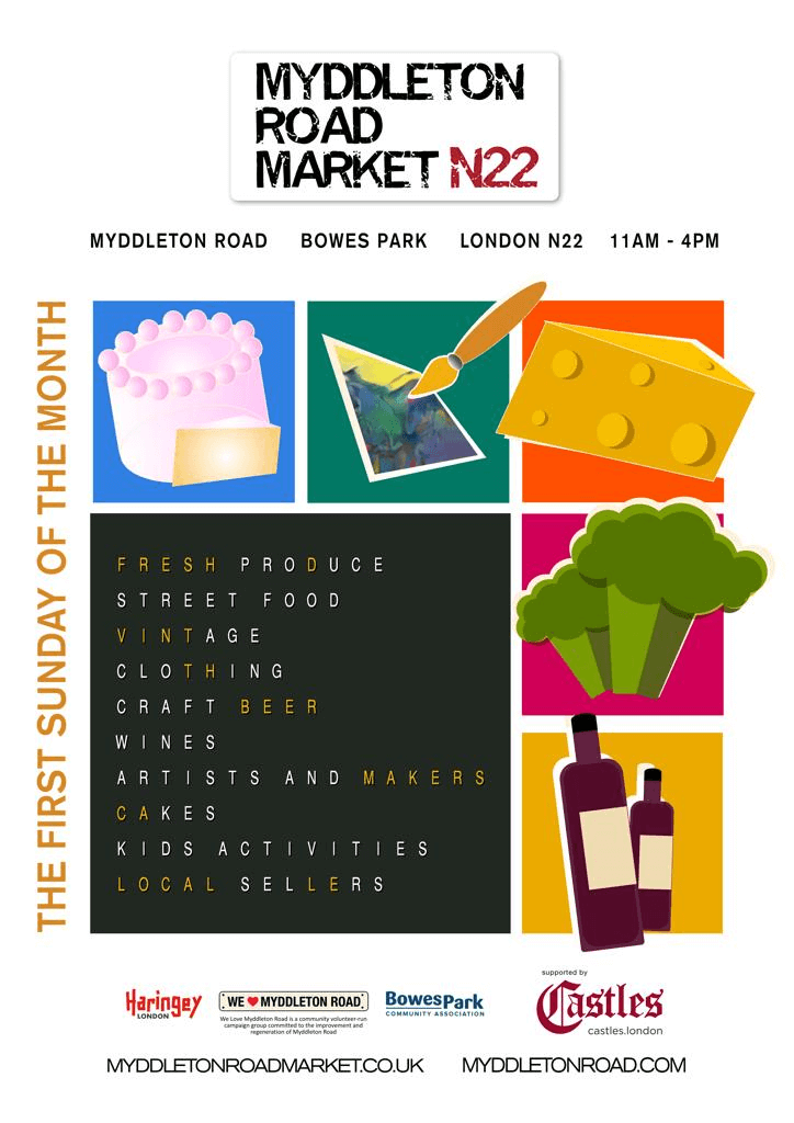 myddleton road market poster