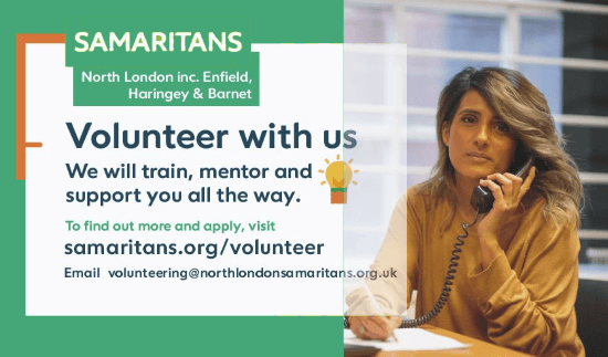 north london samaritans volunteering