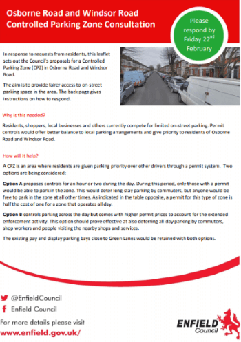 osborne and windsor roads cpz leaflet