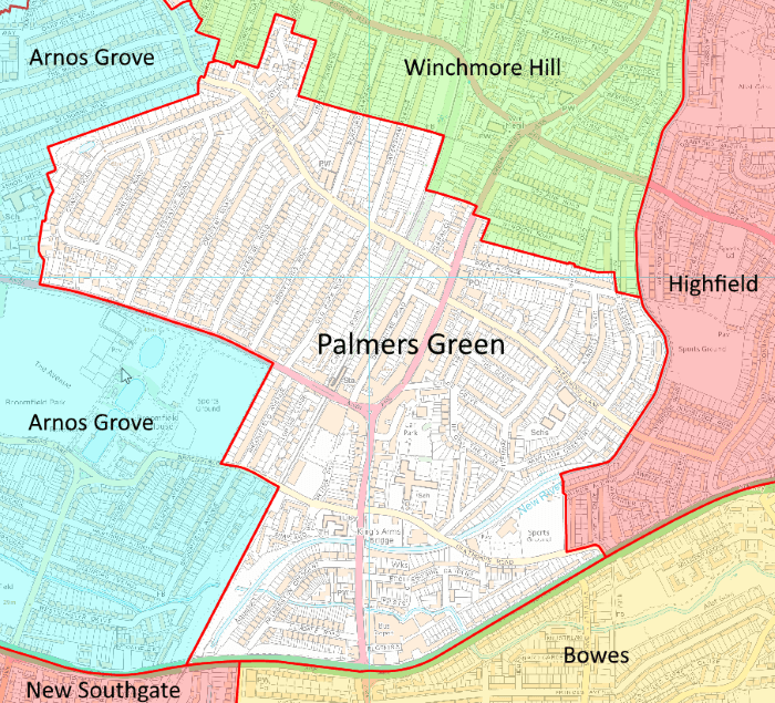 proposed new palmers green ward