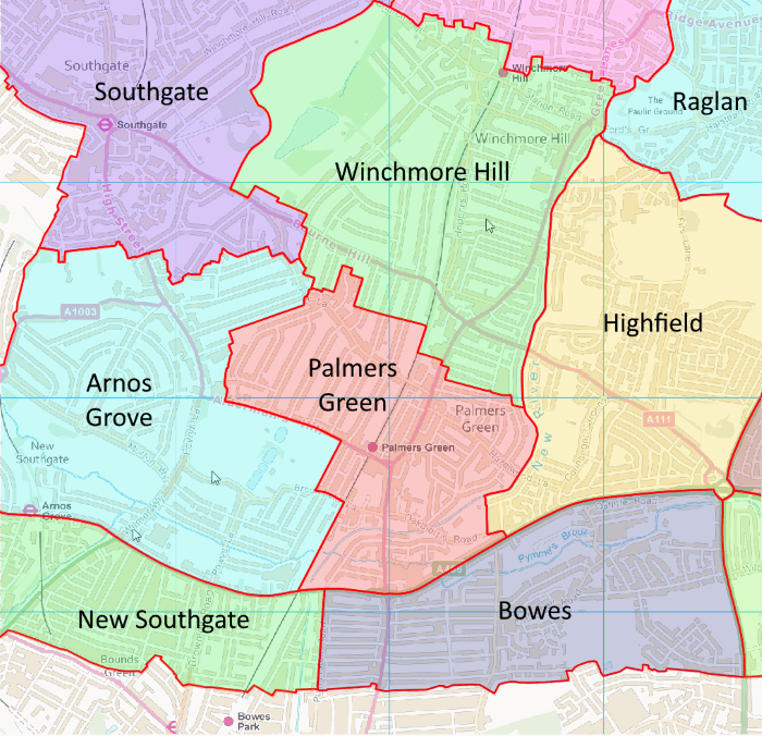 proposed wards near palmers green 700px
