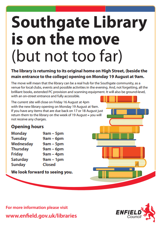 southgate library is on the move