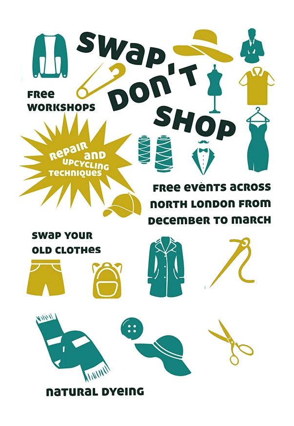 poster or flyer advertising event Enfield Swish and Style event