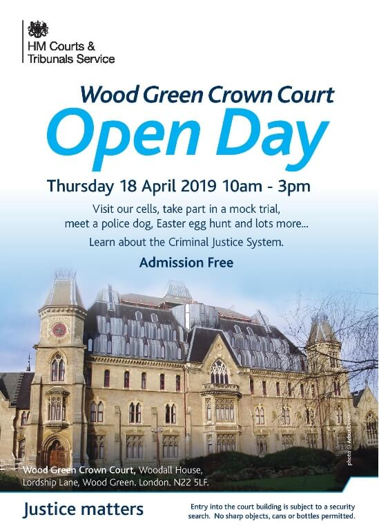 wood green crown court open day