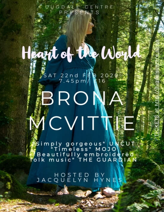 poster or flyer advertising event Heart of the World Folk Club: Brona McVittie & Friends