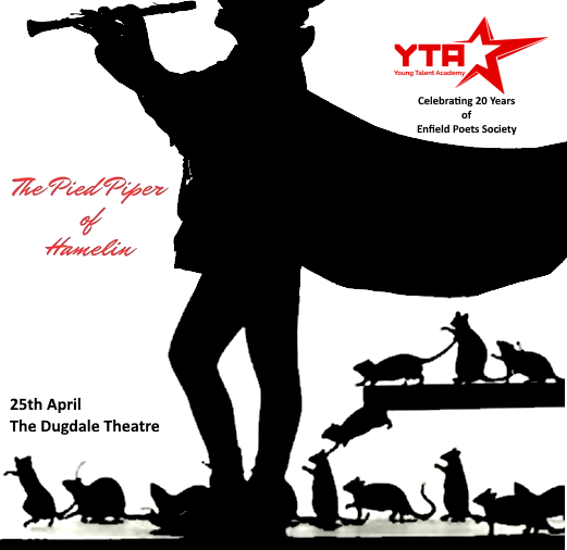 poster or flyer advertising event YTA (the Young Talent Academy) presents The Pied Piper of Hamelin