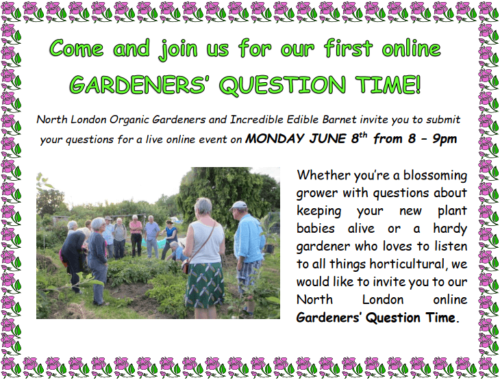 Join in the first North London online Gardeners' Question Time