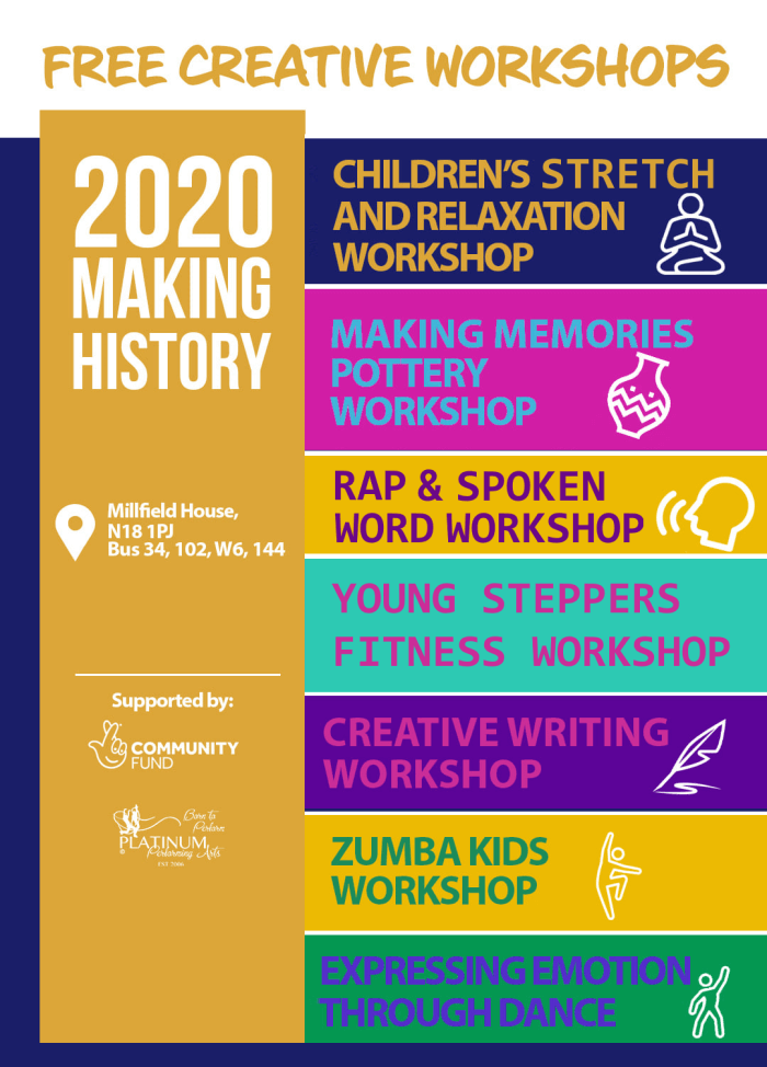 Helping kids in the year of Covid: Free creative workshops