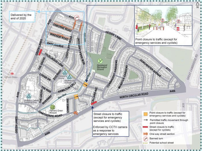connaught gardens qn proposals map Nov 2020