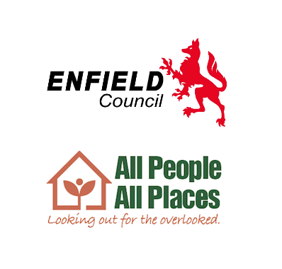 enfield council plus all people all places logos