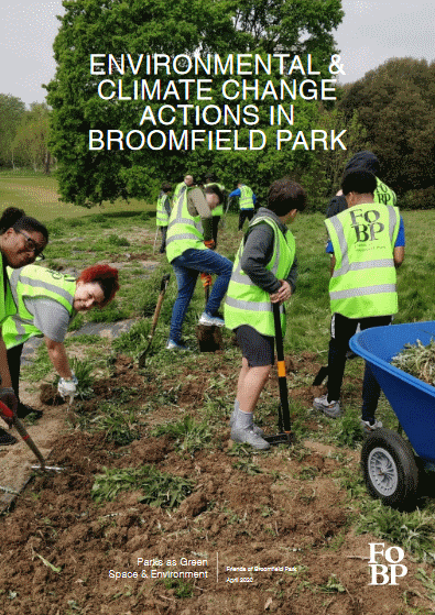 environmental and climate change actions in broomfield park document cover