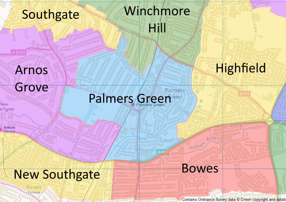 final new ward boundaries in palmers green area