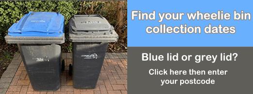 find your wheelie bin collection dates