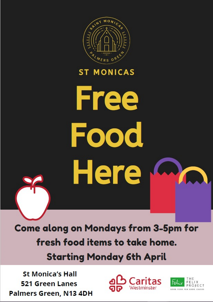 free food at st monicas