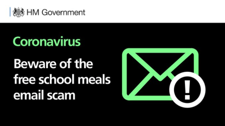 free school meals email scam