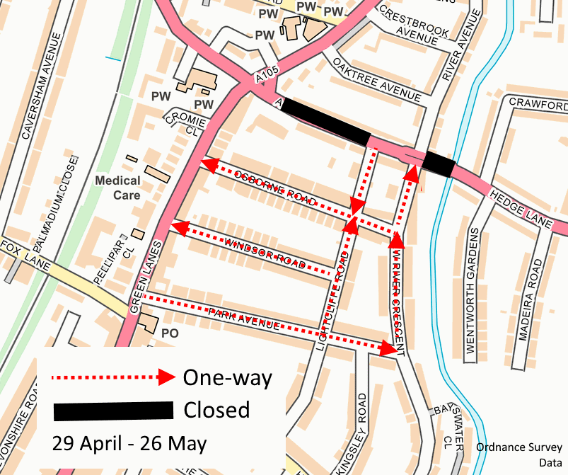 park avenue area diversions phase 1