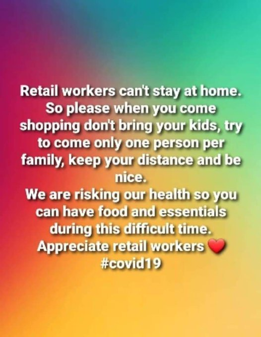 retail workers cant stay at home