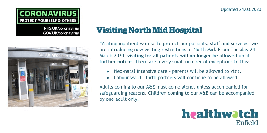 Visiting North Mid and other local hospitals
