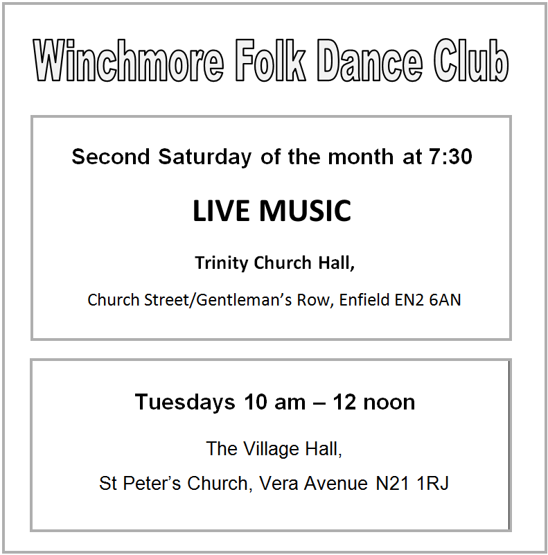 winchmore folk dance club saturdays