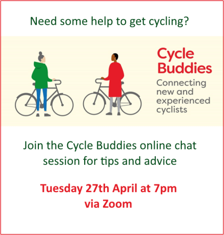 poster or flyer advertising event Find out more about Cycle Buddies