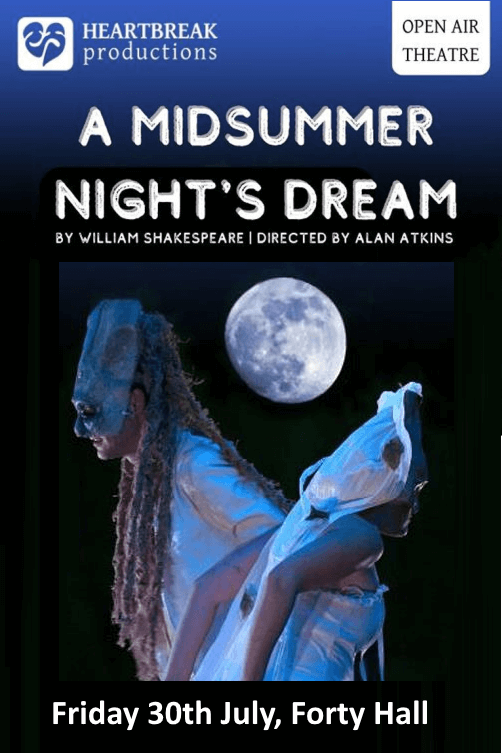 poster or flyer advertising event Open-air theatre: A Midsummer Night\'s Dream