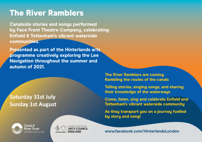 poster or flyer advertising event The River Ramblers: A theatrical journey along the Lee navigation