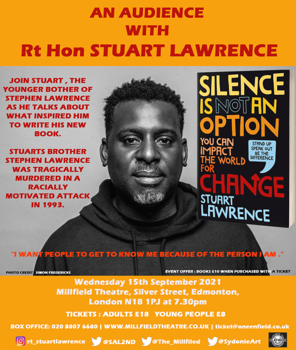 poster or flyer advertising event An Audience with Stuart Lawrence