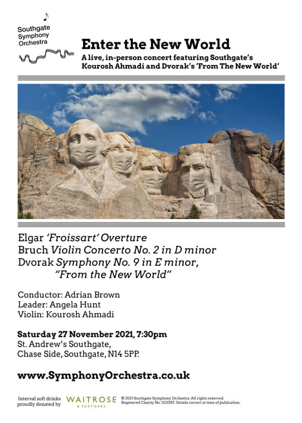 poster or flyer advertising event Southgate Symphony Orchestra: Enter the New World