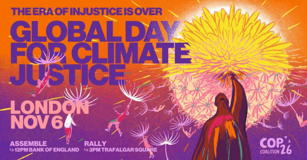poster or flyer advertising event Global Day of Action for Climate Justice