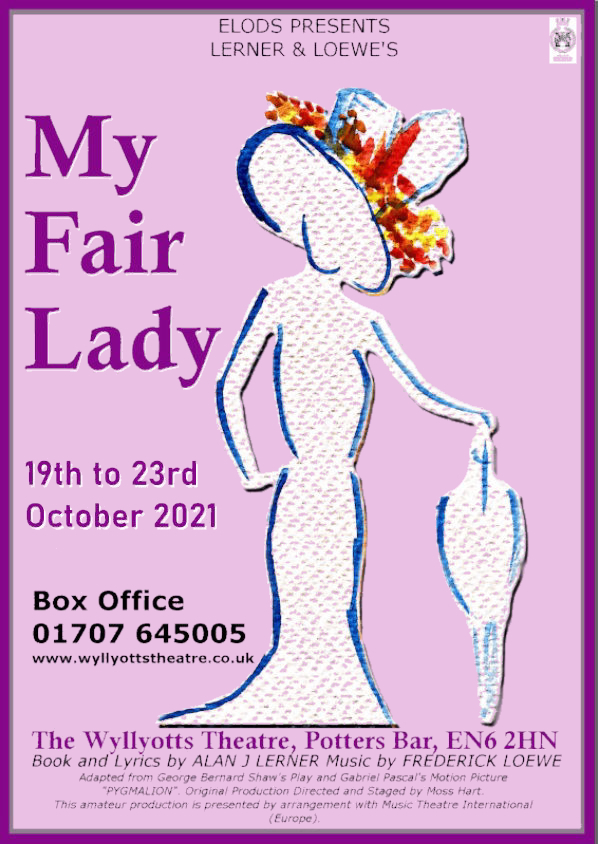 poster or flyer advertising event ELODS present My Fair Lady
