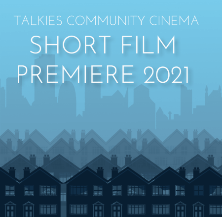 poster or flyer advertising event Premiere of Talkies Short Films Commissions