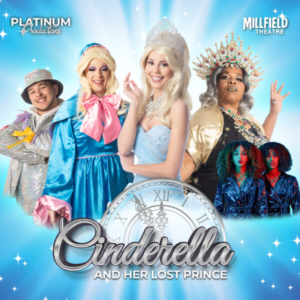 poster or flyer advertising event Platinum Productions present Cinderella and her Lost Prince