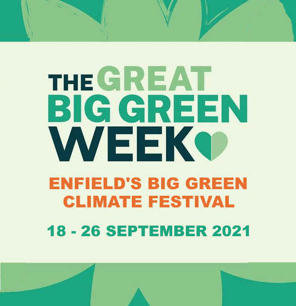 poster or flyer advertising event Enfield\'s Big Green Climate Festival