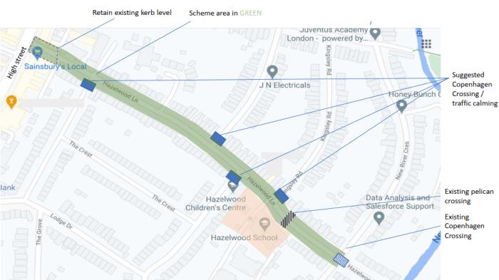 hazelwood crossings map