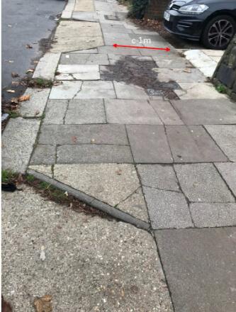 pavement problems in hazelwood lane