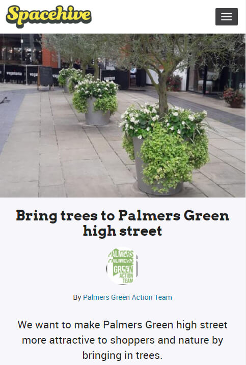 spacehive trees palmers green