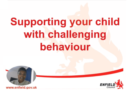 Videos give advice on supporting a child with challenging behaviour