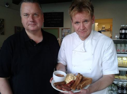 Gordon Ramsey lookalike at Heritage Tea and Coffee