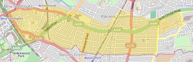 Map of North Circular Road Area Action Plan