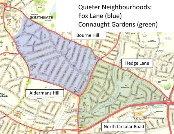 connaught gardens and fox lane quieter neighbourhoods