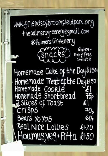 palmers greenery menu