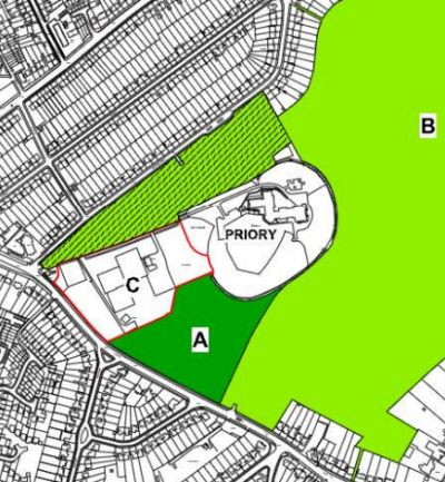 map showing planned location of grovelands school