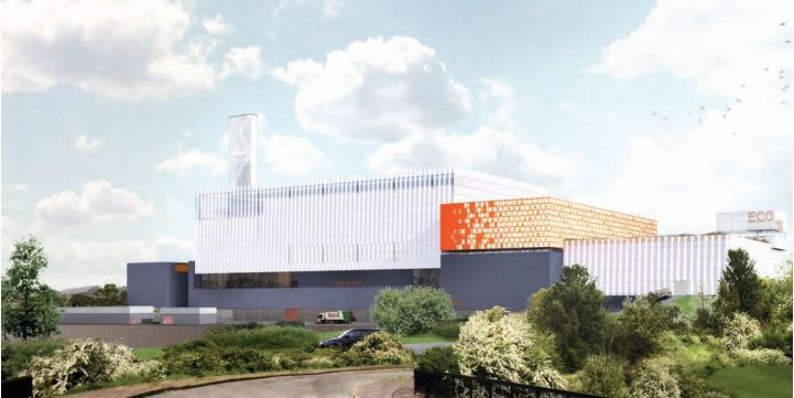 artists impression of planned new edmonton incinerator