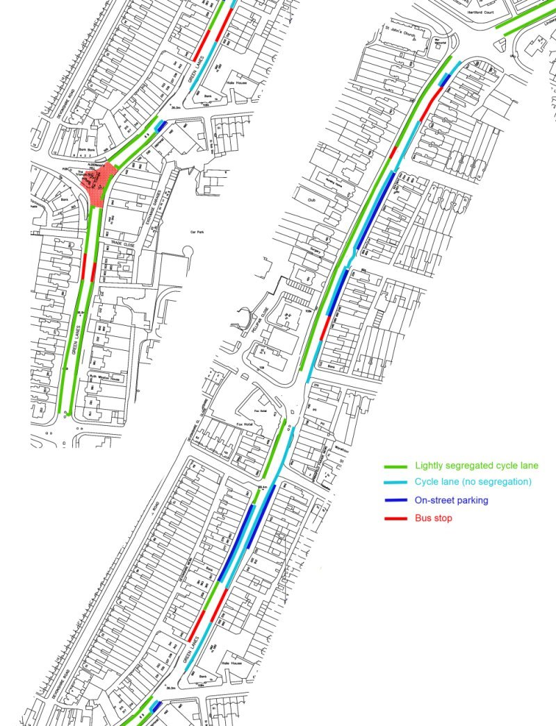 palmers green cycle lanes proposals