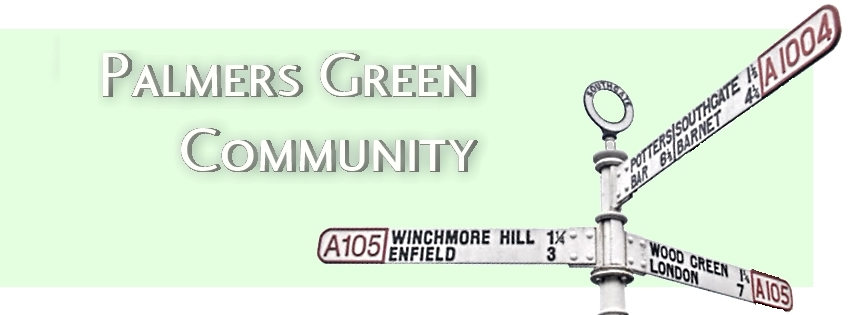Palmers Green Triangle signpost used as Palmers Green Community Logo