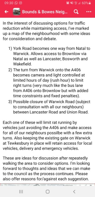 Details of Bowes low-traffic neighbourhood scheme published - Comment by Richard Dabare